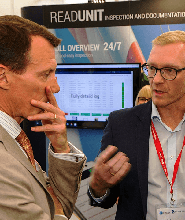Co-owner of Readunit, Torben Kofoed and His Royal Highness, Prince Joachim, attending the Husum Wind Fair 2017