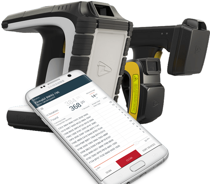 Use the RFiD scanner and Readunit app to register equiment on loan to a specific employee